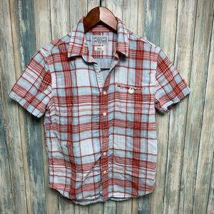 Lucky Brand Men's Shirt sz Small Western Plaid